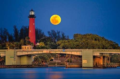 Jupiter Lighthouse Full Moon