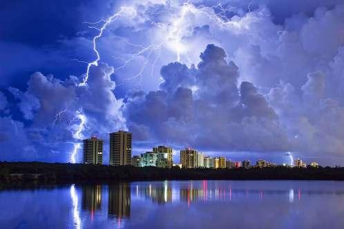 Lightning Strike Over Singer Island Florida