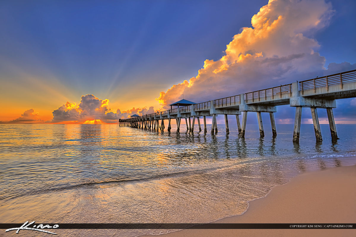 Hdr photo gallery for Juno beach fishing pier