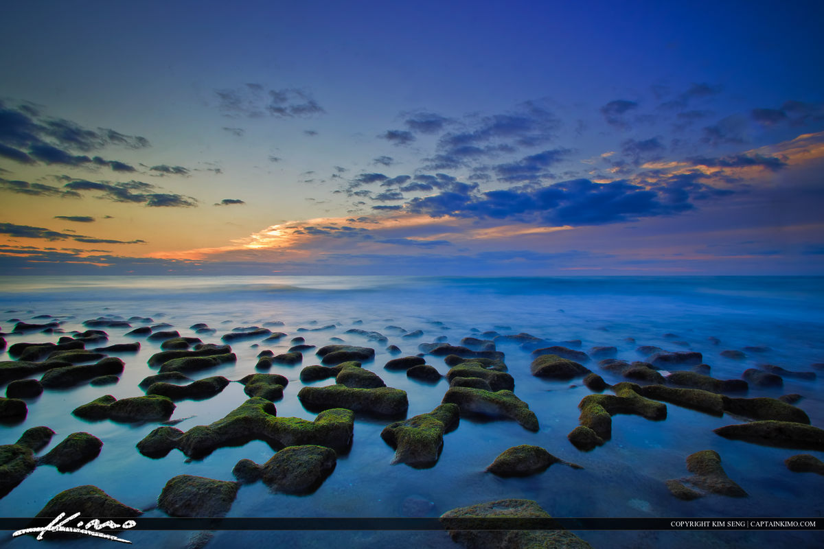 Cool Florida Beach Morning at Rocks