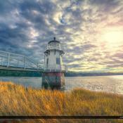 Arrowsic Maine Lighthouse at Kennebec River