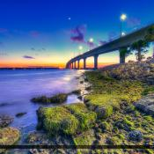 Bridge Stuart Florida Sunset from Park
