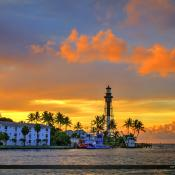 Hillsboro Lighthouse Pompano Beach Sunrise at Inlet Park