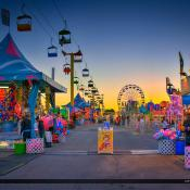 South Florida Fair at Sunset