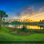 Sunset at Lake in Palm Beach Gardens Florida
