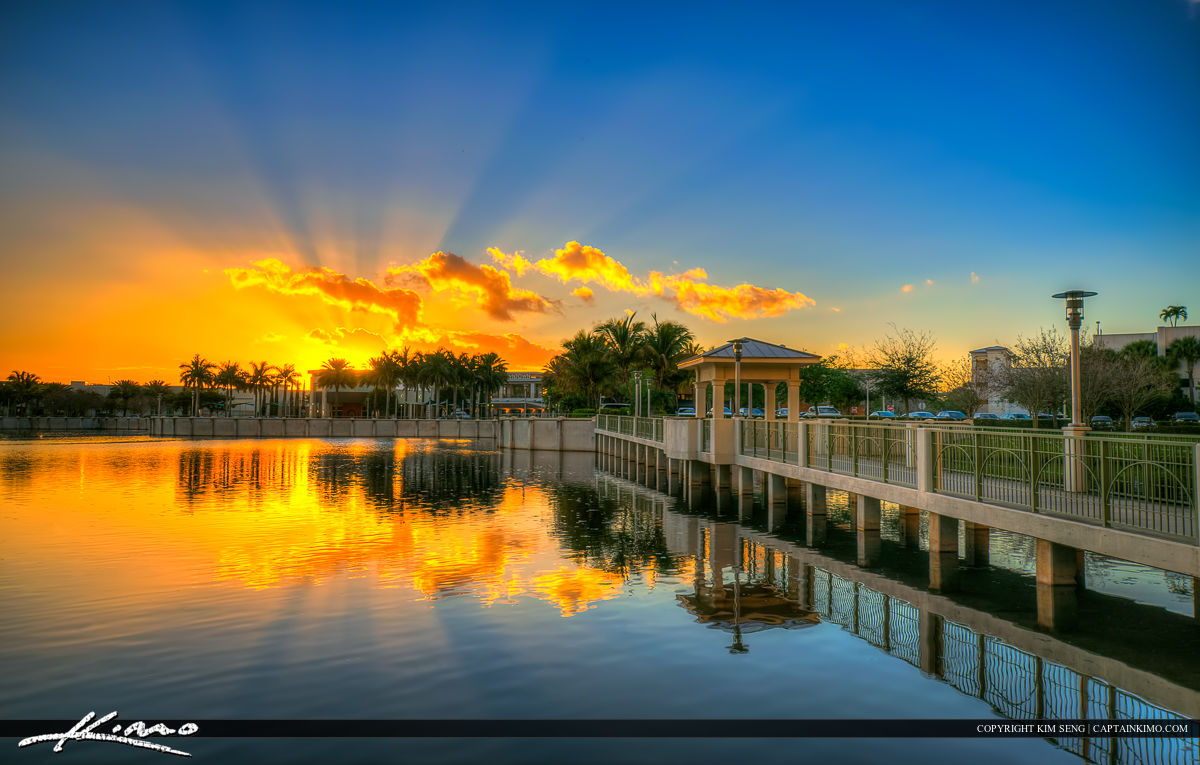 Downtown gardens lake victoria walkway to shopping hdr - Palm beach gardens mall shooting ...