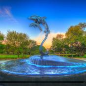 Jensen Beach Indian Riverside Park Doplhin at Fountain