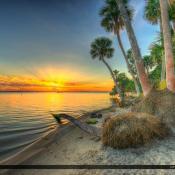 Jensen Beach Indian Riverside Park Sunrise Indian River Lagoon