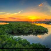Palm City Sunset from the Veterans Memorial Bridge