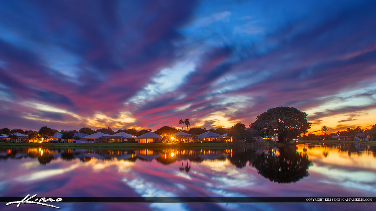 Sunset over the lake in palm beach gardens hdr - Palm beach gardens mall shooting ...