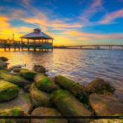 Daytona Beach Florida Sunset From Pier