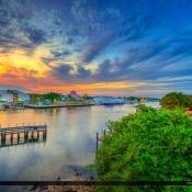 Palm Beach Gardens Sunset Riverhouse Waterway
