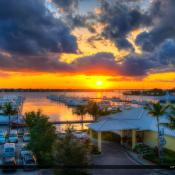 Sunset Marina in Stuart FloridaOver the St. Lucie River