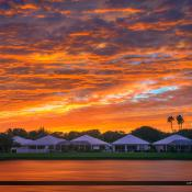 Sunset Over Palm Beach Gardens Homes at Lake Catherine