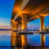 Underneath the Roosevelt Bridge Martin County Florida