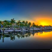 Boynton Harbor Marina Sunrise along the Waterway