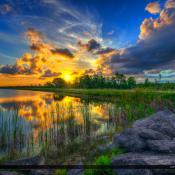 Hungryland Wildlife Management Area Jupiter Florida Canal Sunset