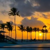 Sunrise at Matheson Hammock Park in Coral Gables Florida with co