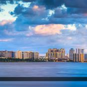 West Palm Beach Skyline from Bingham Island