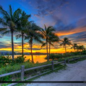 Breathtaking colors after sunset at the waterway on Jupiter Island in Tequesta, Florida. HDR image created using Photomatix Pro and Topaz software.