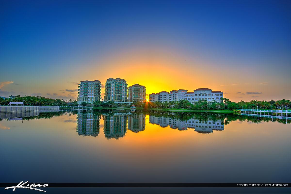 Sunrise At Palm Beach Gardens Downtown Hilton Hotel