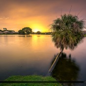Had some interesting colors at Lake Catherine in Palm Beach Gardens the other day after a rain shower. HDR image from two exposures created in Photomatix software.