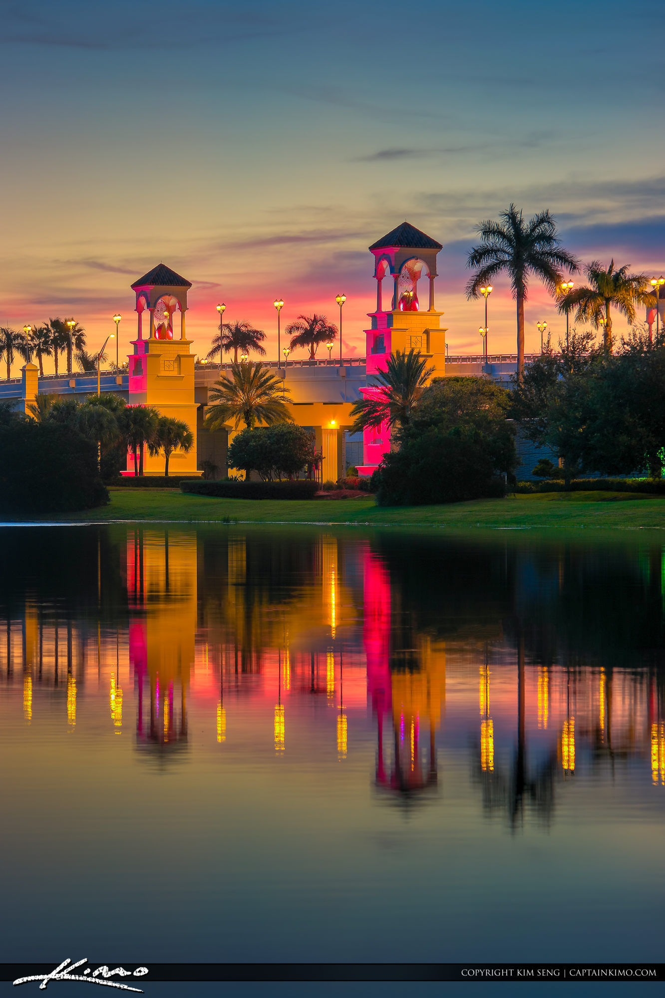 Pga Bridge Sunset Palm Beach Gardens