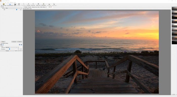 Luminance HDR Software Screen Shot