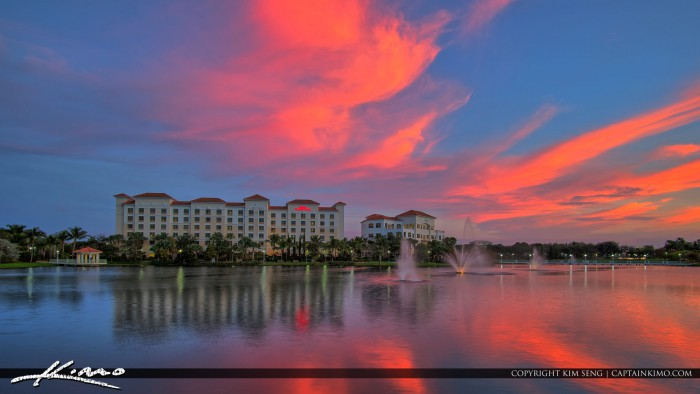 Palm Beach Gardens Downtown Pink Clouds