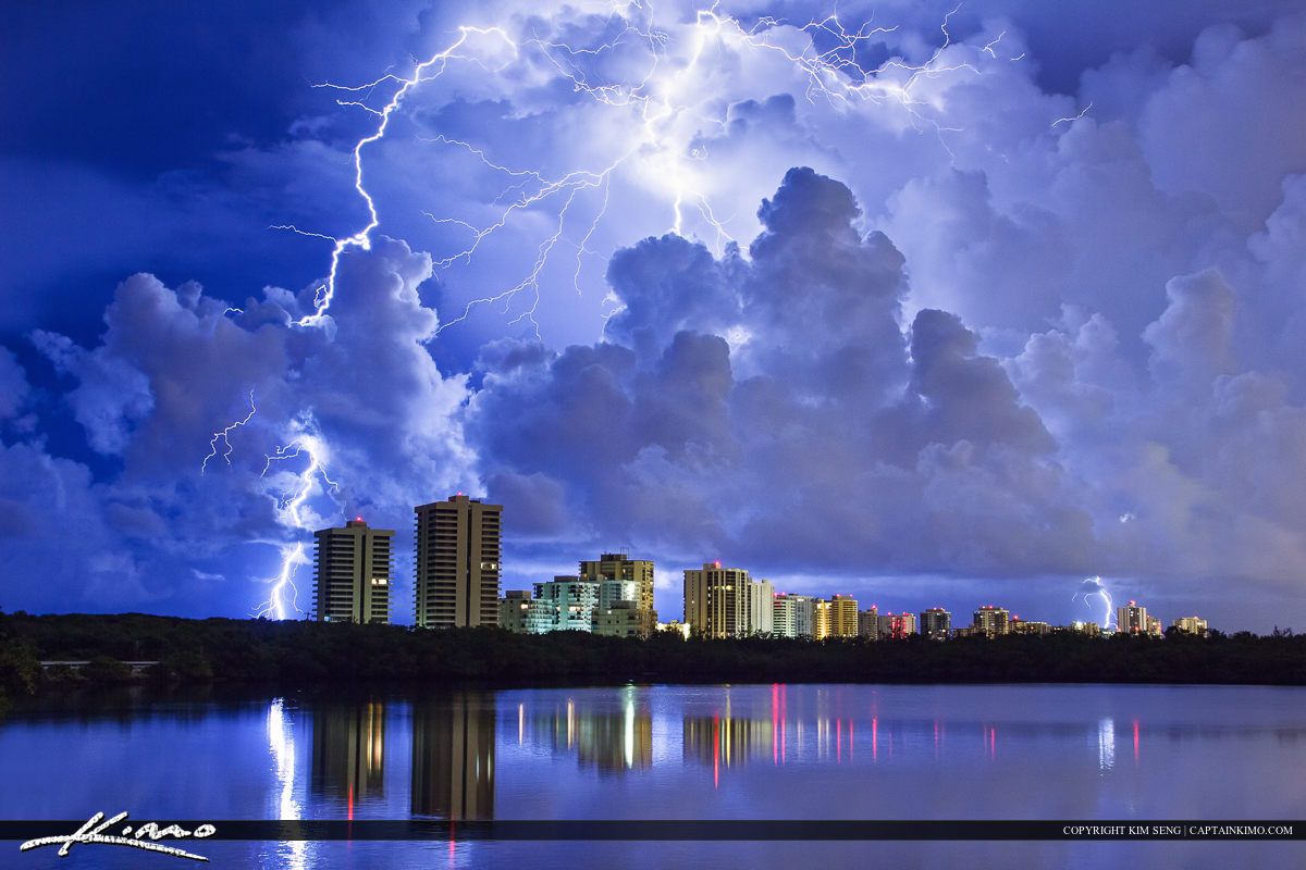 Lightning Strike Over Singer Island Florida