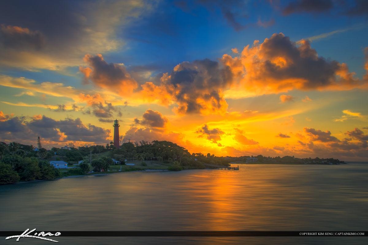 Sunrise at Jupiter Lighthouse Deep Warm Colors