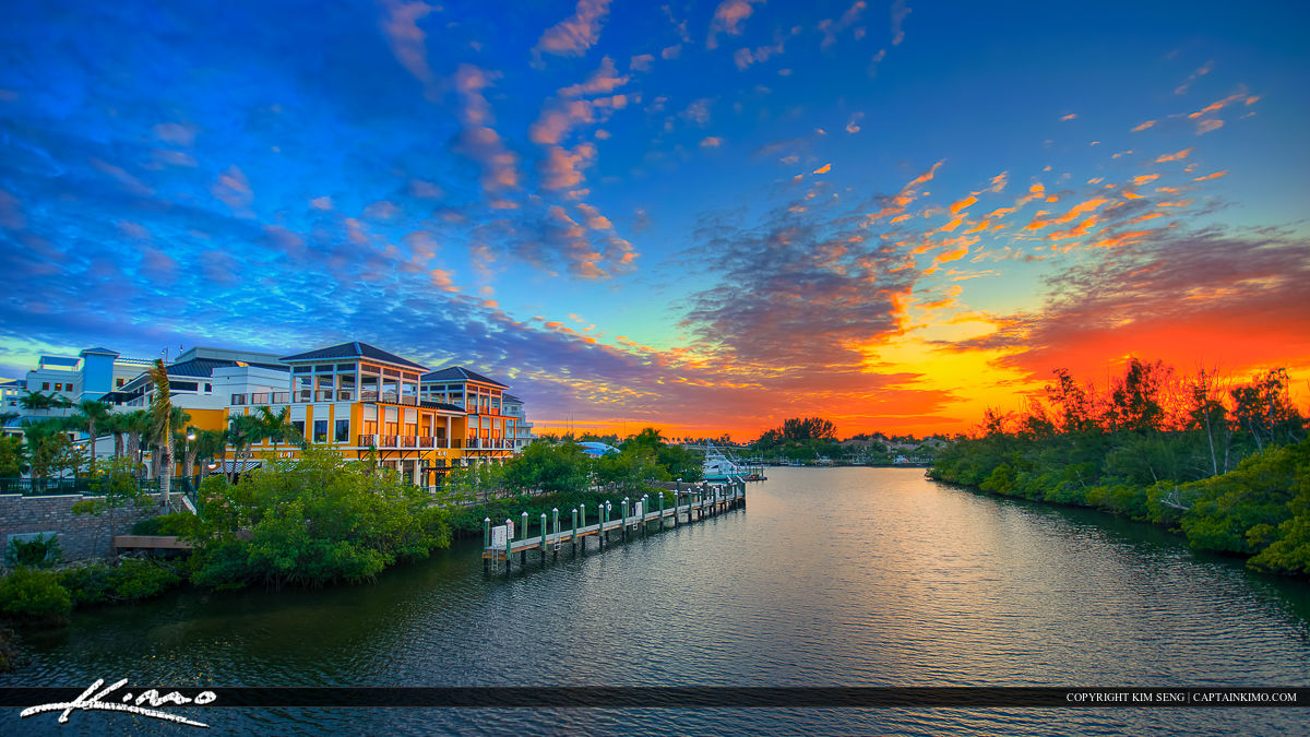 Harborside Place Sunset Waterway at the Canal