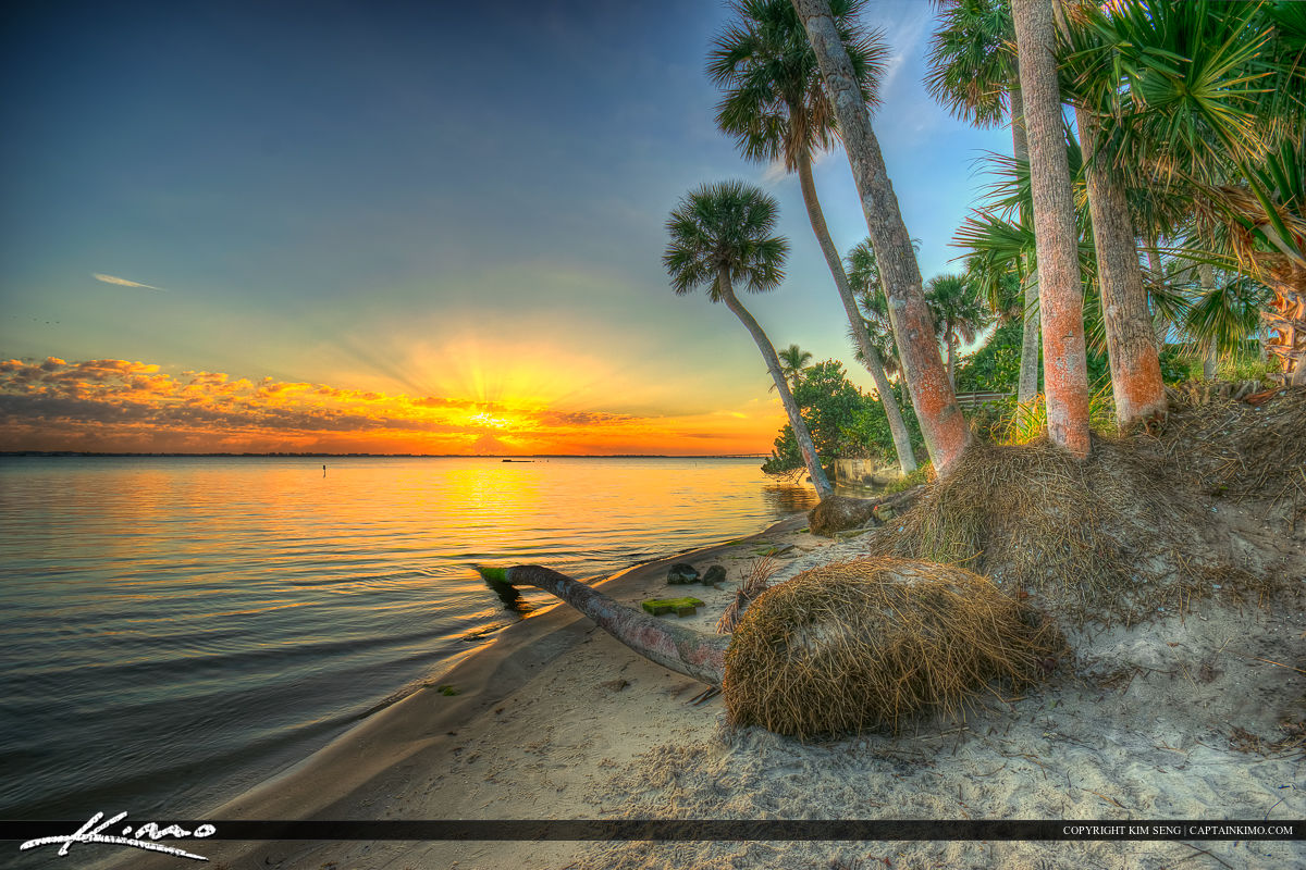 Jensen Beach Indian Riverside Park Sunrise Indian River Lagoon