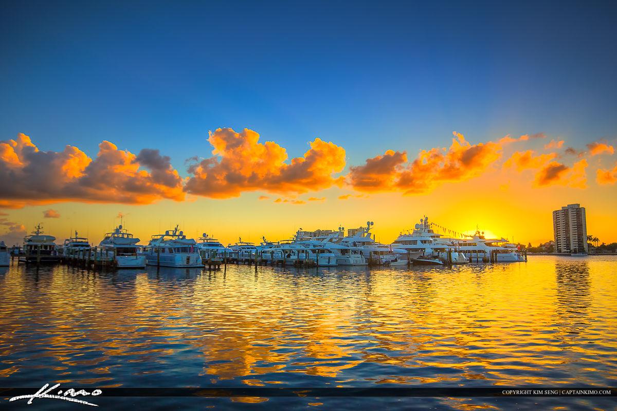 Palm Beach Docks Sunset at the Waterway