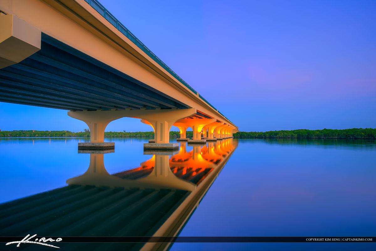 Veterans Memorial Bridge Palm City Florida Smooth Water