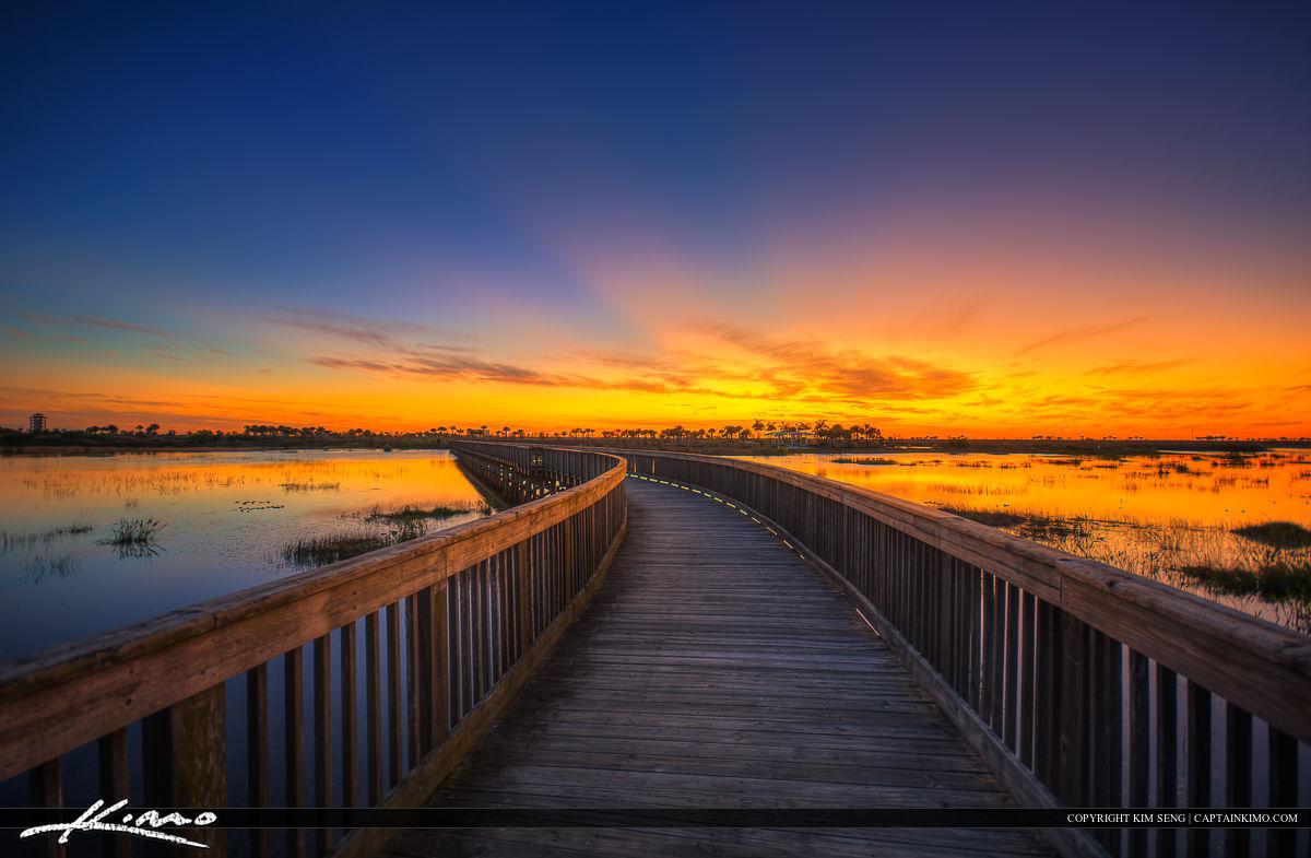 Wellington Environmental Preserve Sunset at Boardwalk