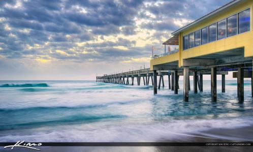 Dania Beach Pier Waves in Motion
