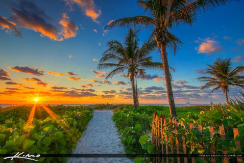 Delray Beach FL Sunrise Entrance to Beach