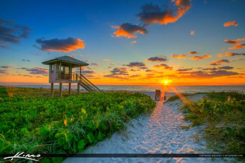 Delray Beach FL Sunrise Lifeguard Tower