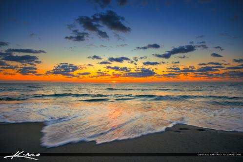 Delray Beach FL Sunrise Ocean Waters