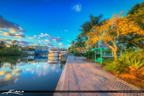 Delray Beach Florida Downtown Veterans Park