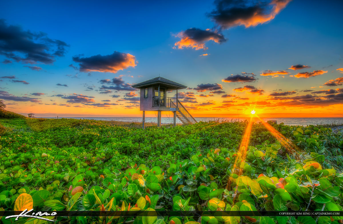 Delray Beach Florida Sunrise Lifeguard Tower