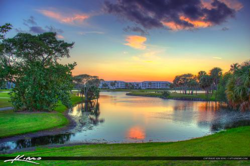 Golf Course Stuart Florida Sunset Real Estate