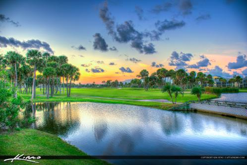 Golf Course Stuart Florida by the Pond