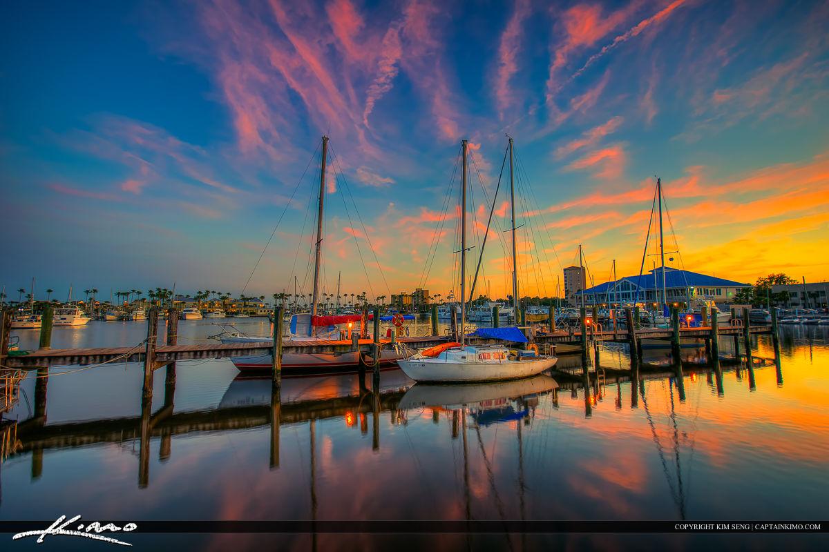 Halifax Harbor Marina Daytona Beach Florida Sunset