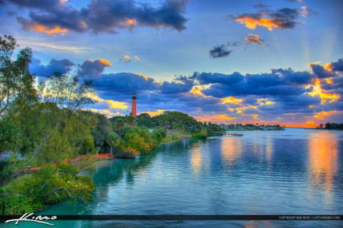 Jupiter Inlet Lighthouse Sunrise Cool Day