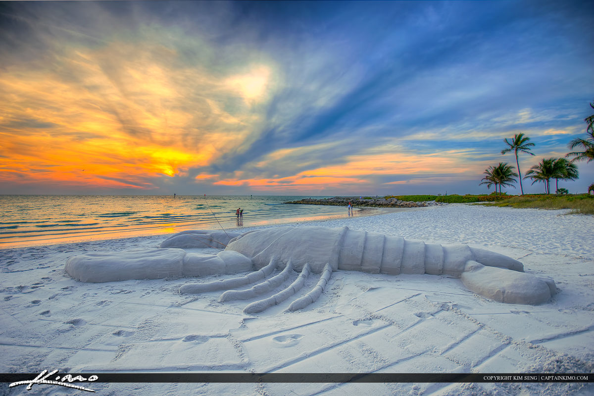 Naples Florida Lobster Sand Statue Gulf Coast