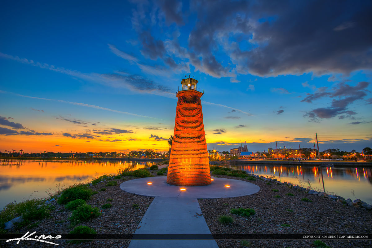 Lighthouse at Lakefront Park in Kissimmee Florida
