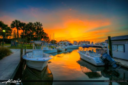 Sarasota Bayfront Marina along Marina Jack Trail