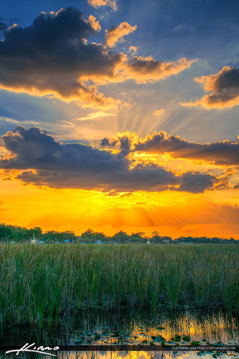 St Cloud Florida Sunset Lakefront Park